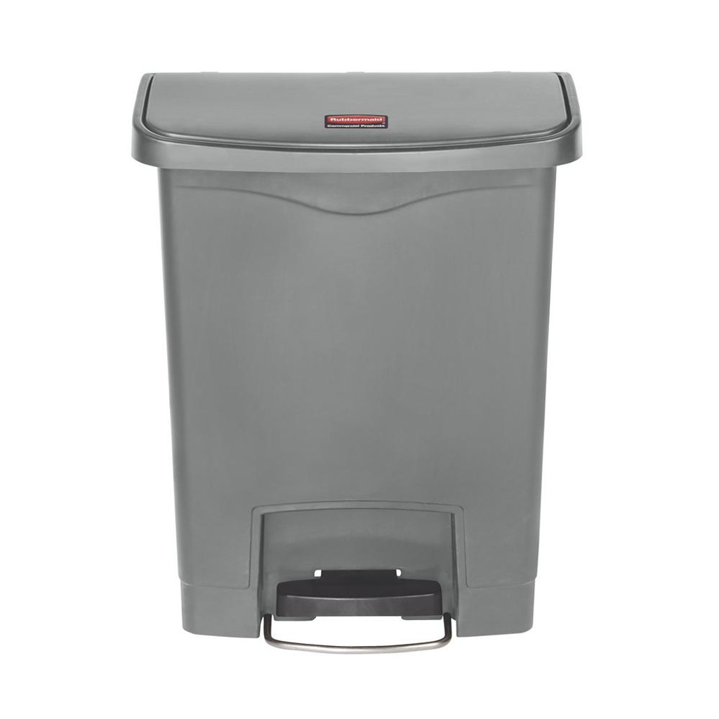 Rubbermaid Slim Jim 30L/8G Resin Front Step Step-On Gray