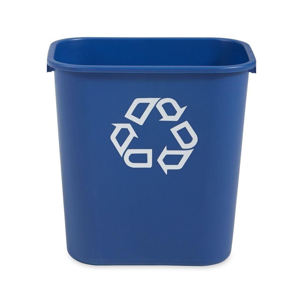 Rubbermaid Rectangular Wastebasket 26.6 L - Blue