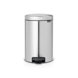 Brabantia Pedal Bin newIcon 12 litre Plastic Bucket - Matt Steel Fingerprint Proof
