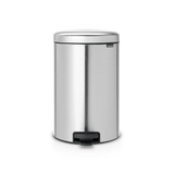 Brabantia Pedal Bin newIcon 20 litre Plastic Bucket - Matt Steel Fingerprint Proof