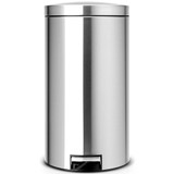 Brabantia Pedal Bin Silent 45 litre Plastic Bucket - Matt Steel Fingerprint Proof