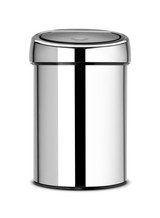 Brabantia Touch Bin 3 litre Plastic Bucket - Brilliant Steel