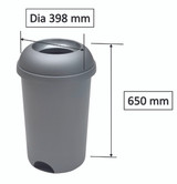 Addis Open Top Bin Metallic