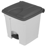 Probbax Step-On Container 30L - White (Body)/Grey (Lid)