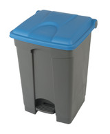 Probbax Step-On Container 45L - Grey (Body)/Blue (Lid)