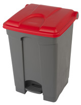 Probbax Step-On Container 45L - Grey (Body)/Red (Lid)