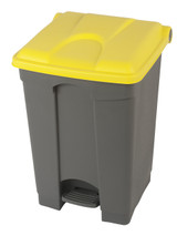 Probbax Step-On Container 45L - Grey (Body)/Yellow (Lid)
