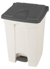 Probbax Step-On Container 45L - White (Body)/Grey (Lid)