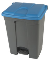 Probbax Step-On Container 70L - 18 1/2 Gal - Grey (Body)/Blue (Lid)