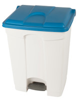 Probbax Step-On Container 70L - 18 1/2 Gal - White (Body)/Blue (Lid)