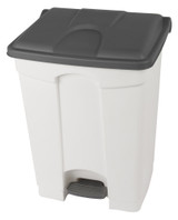 Probbax Step-On Container 70L - 18 1/2 Gal - White (Body)/Grey (Lid)
