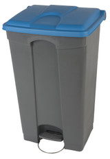Probbax Step-On Container 90L - Grey (Body)/Blue (Lid)