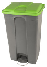 Probbax Step-On Container 90L - Grey (Body)/Green (Lid)