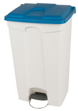 Probbax Step-On Container 90L - White (Body)/Blue (Lid)