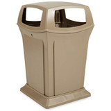 Rubbermaid Ranger Container W/4 Opening Top 170.3 L - Beige