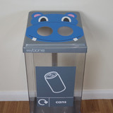 Wybone Box Cycle Animal Faces Hippo - Cans