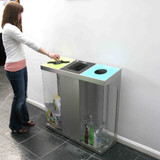 Wybone C-Bin Triple Recycling Unit With Coloured Bodies - 240L