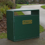 Wybone Nr/2 Double Never Rust Litter Bin Smooth