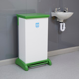 Wybone 80 Litre Hybrid Pedal Operated Sackholder With A Removable Plastisol Body, Integrated Castors And Hands Free Frame