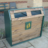 Wybone Rla/6 Double Timber Fronted Semi-Open Top Recycle Unit Smooth