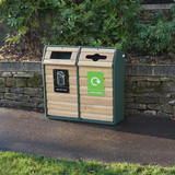 Wybone Rla/6 Double Timber Fronted Semi-Open Top Recycle Unit Textured