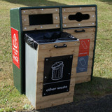 Wybone Rla/6 Double Recycled Plastic Fronted Semi-Open Top Recycle Unit Textured