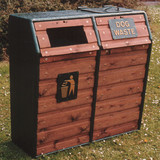 Wybone Wdb/6Dl Combined Recycled Plastic Fronted Dog Waste And Litter Bin Smooth