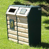 Wybone Wdb/6Dl Combined Timber Fronted Dog Waste And Litter Bin Textured