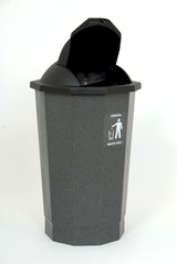 Beca Eco General Waste Bank (Black Lift Flap Lid) - 75 litres