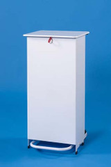 Linton Enclosed Body Sackholder Standard Lid - Pedal & Hand Operated 90L