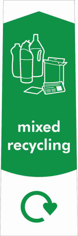 Slim Waste Stream Sticker - Mixed Recycling