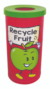 Theme Bins Popular with Fruit Recycling Graphic for Indoor Use - 70 Litres