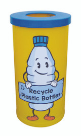 Theme Bins Popular with Plastic Bottle Recycling Graphic for Indoor Use - 70 Litres