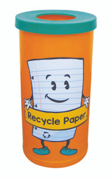 Theme Bins Popular with Paper Recycling Graphic for Indoor Use - 70 Litres