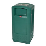 Rubbermaid Landmark Jr. Container With Ashtray - Green