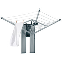 Brabantia Wall Mounted Foldable Washing Line Dryer - 24m- Protection/Storage Box