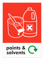 Large A4 Waste Stream Sticker - Paints & Solvents