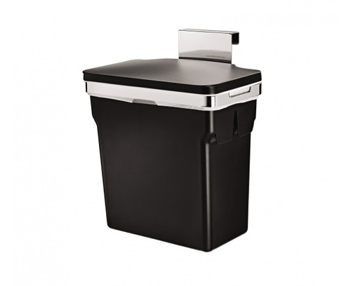 simplehuman In-Cabinet Bin 10 Litre, Chromed Steel With Plastic Bucket