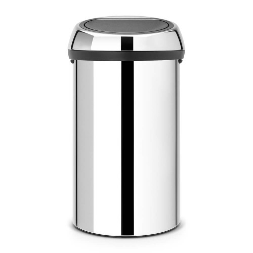 Brabantia Touch Bin 60 litre - Brilliant Steel / Brilliant Steel Lid