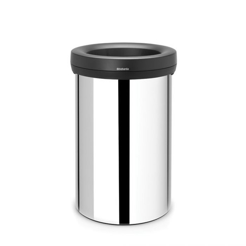 Brabantia Open Top Bin 60 litre - Brilliant Steel body