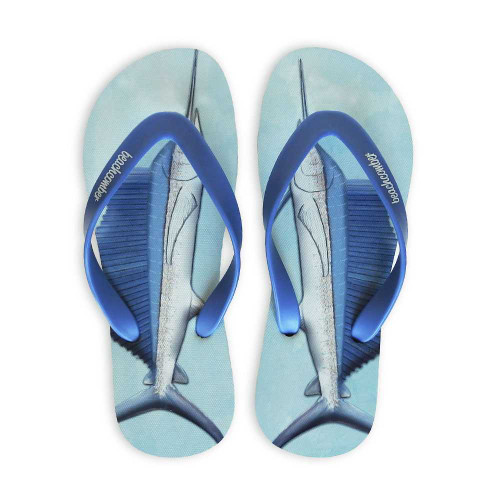 Sailfish Natural Rubber Flip Flops beachcomber blue water flamingo flip flops