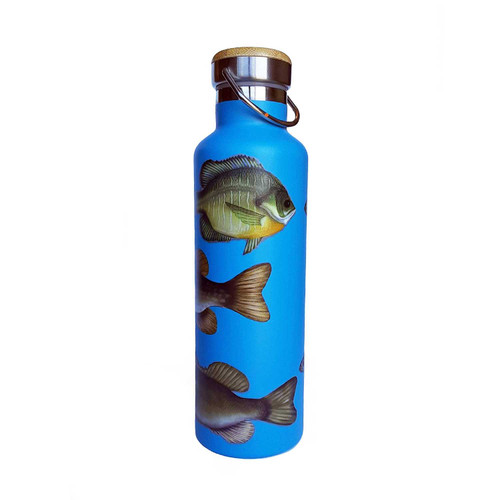 Beachcomber Blue Water Freshwater Fish Stainless Steel Water Bottle beachcomber blue water flamingo flip flops