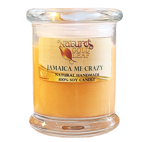 Handmade 100 % Soy Candle Scented with Jamaica Me Crazy