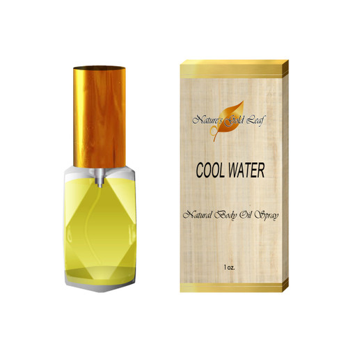 Cool Water Natural Body Oil Spray for Men 1 oz.