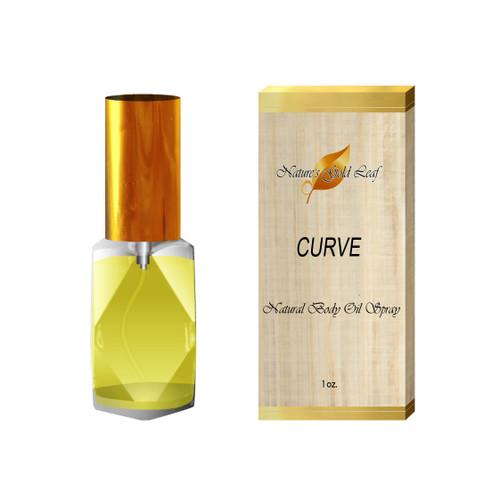 Curve Natural Body Oil Spray for Women 1 oz.