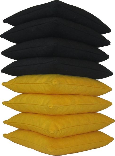 Black and Yellow Cornhole Bags