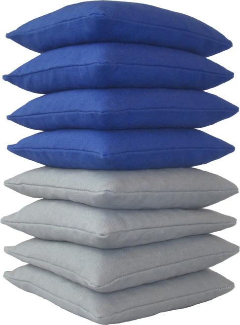 Blue and Gray Cornhole Bags
