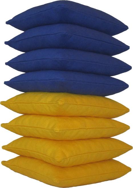 Blue and Yellow Cornhole Bags