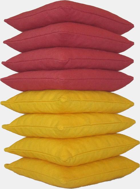 Crimson and Yellow Cornhole Bags