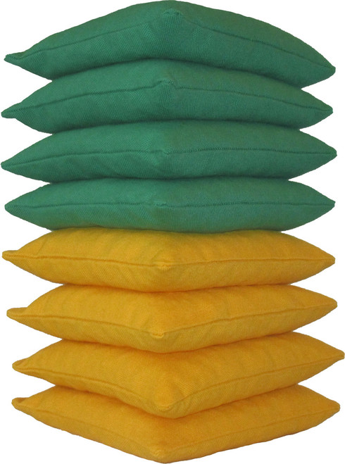 Green and Yellow Cornhole Bags